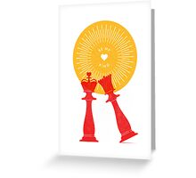 Mate...Check (King/Queen - Red Hot) Greeting Card