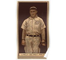 Benjamin K Edwards Collection Jack Lively Detroit Tigers baseball card portrait Poster