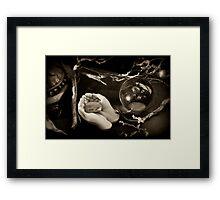 Here I Love You Framed Print