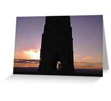 Lone sunset Greeting Card