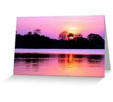 Sunset on Kafue River, Zambia Greeting Card