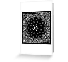Black Bandana  Greeting Card