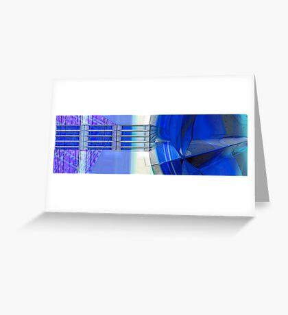 Blue Ribbons Greeting Card