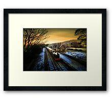 Sunrise in Hawes  Framed Print