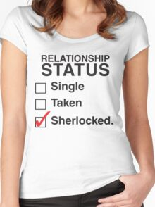 SINGLE TAKEN SHERLOCKED Women's Fitted Scoop T-Shirt