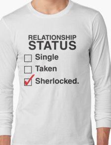 SINGLE TAKEN SHERLOCKED Long Sleeve T-Shirt