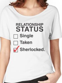 SINGLE TAKEN SHERLOCKED Women's Relaxed Fit T-Shirt