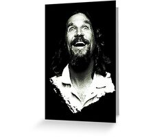 Dude is elated. Greeting Card