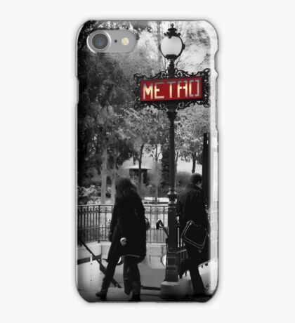Paris Metro Entrance-Paris, France iPhone Case/Skin