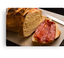 Bacon Buttie Canvas Print