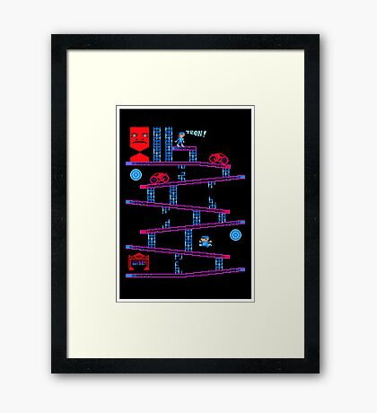 DONKEY TRON Framed Print