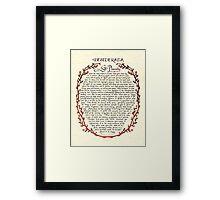 Wreath DESIDERATA Framed Print
