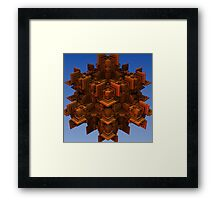 Playing With Blocks Framed Print
