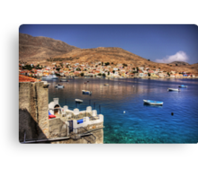 A barbeque with a view Canvas Print