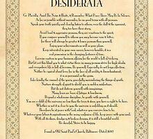 Golden DESIDERATA by Desiderata4u