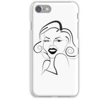 Marilyn Line iPhone Case/Skin