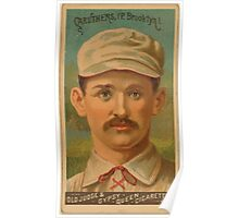 Benjamin K Edwards Collection Bob Caruthers Brooklyn Trolley Dodgers baseball card portrait Poster