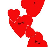 I love you hearts by dunawori