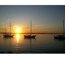 Three Yachts Photographic Print