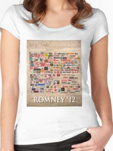 We the people, Romney 2012 Women's Fitted Scoop T-Shirt