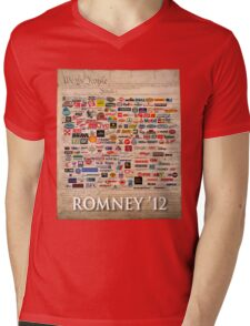 We the people, Romney 2012 Mens V-Neck T-Shirt