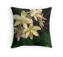 Mother of Pearl Orchids Throw Pillow