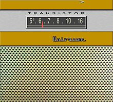 Transistor Radio - Galaxy II Gold by ubiquitoid