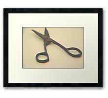 Scissors. Framed Print