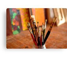 Paint Brushes. Canvas Print