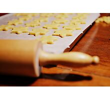 Baking cookies. Photographic Print
