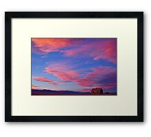 Little House On Prairie with Big Colorful Colorado Sunset Sky Framed Print