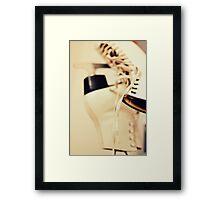 Ice skating. Framed Print