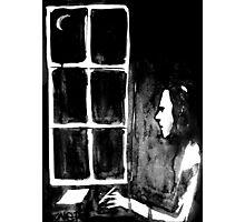 dark window Photographic Print