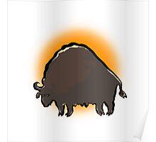 buffalo sunset Poster