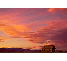 Big Colorful Colorado Sky and Little House On The Prairie Photographic Print