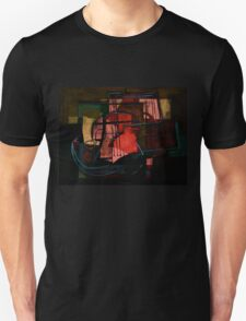 Guitar on Table Abstract 2 Unisex T-Shirt