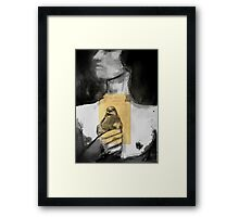figure with bird Framed Print