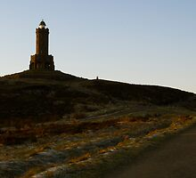 The Road to Darwen Tower by Peter Elliott