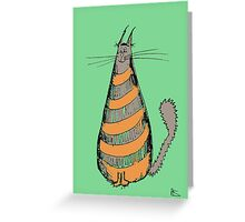 Orange Stripey Cat Greeting Card