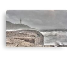 Misty Morning Lighthouse Canvas Print