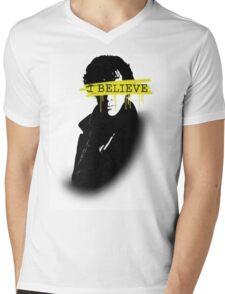 I BELIEVE IN SHERLOCK HOLMES Mens V-Neck T-Shirt