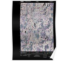 USGS Topo Map Washington State WA Chattaroy 20110401 TM Inverted Poster