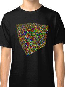 Rubik Menger Sponge, three iterations. Resistance is futile. Classic T-Shirt
