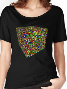 Rubik Menger Sponge, three iterations. Resistance is futile. Women's Relaxed Fit T-Shirt