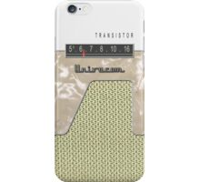 Vintage Transistor Radio - White iPhone Case/Skin