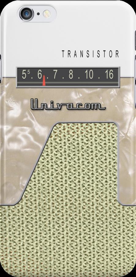 Vintage Transistor Radio - White by ubiquitoid