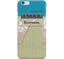 Vintage Transistor Radio - Aquamarine iPhone Case/Skin