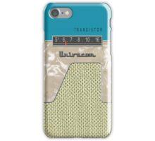 Vintage Transistor Radio - Aquamarine iPhone Case/Skin