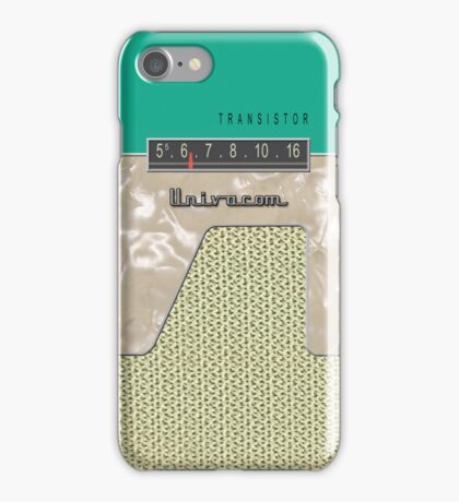 Vintage Transistor Radio - Green iPhone Case/Skin