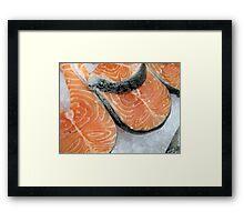Delicious fresh salmon Framed Print